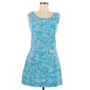 RARE Lilly Pulitzer blue turtle print dress